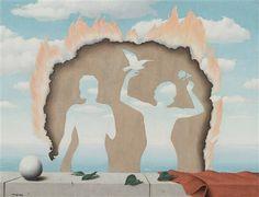 Mesdemoiselles de l'Isle Adam by René Magritte, 1942.