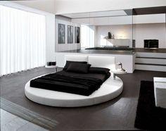 love! black and white rooms so modern! and cute