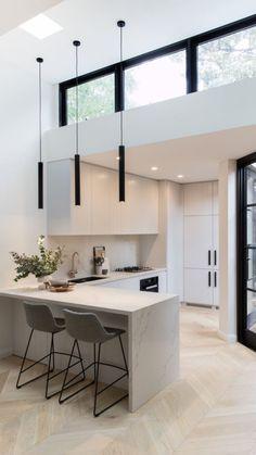 Modern Kitchen Design, Interior Design Kitchen, Modern Design, Minimal Home Design, Modern Home Interior, Minimalist Home Interior, Minimalist Furniture, Interior Livingroom, Modern Homes