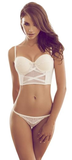 awesome faux #Corset top #Lingerie set, to inspire new @LuxeFlesh http://LuxeFlesh.ca/ styles...