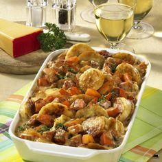 Knödelauflauf mit Kasselerragout Our popular recipe for dumpling casserole with Kasselerragout and o Meat Recipes, Pasta Recipes, Snack Recipes, Healthy Recipes, Yummy Recipes, Snacks, Austrian Cuisine, Vegan Junk Food, Dumpling Recipe