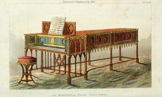 A gothic grand piano for July 1826, via Two Nerdy History Girls