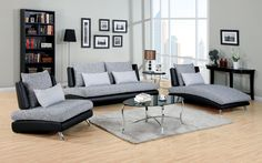 Furniture Of America Saillon Sofa, Chair And Chaise Set CM6111