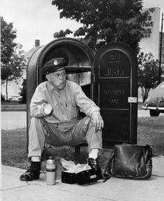 Mailman takes a break