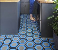 PopHamDesign cement tiles 25 Pretty Patterned Interiors via Brit + Co.