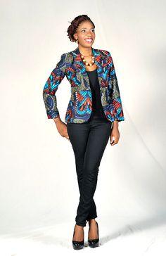 Love the #Ankara Blazer! ~Latest African Fashion, African women dresses, African Prints, African clothing jackets, African men's fashion, children's fashion, African bags, African shoes ~DKK