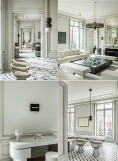 Who doesn't dream about moving to Paris, ending up in an incredibly chic Parisian Apartment? This epic place designed by Joseph Dirand has everything Classic Interior, Best Interior, French Interior, Scandinavian Modern, Luxury Home Decor, Luxury Interior Design, Luxury Apartments, Luxury Homes, Joseph Dirand