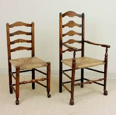 Antique Ladderback Chairs via Google