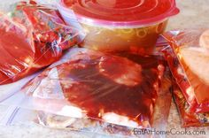 How to make 6 slow cooker freezer meals in 1 hour