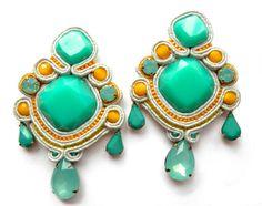 embroidery earrings  @blackmarketjewels