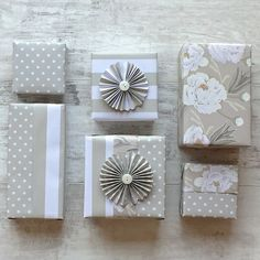 Jane Means Grey Gift Wrap Collection