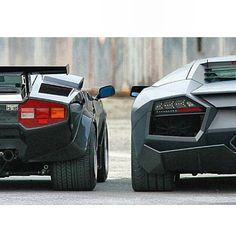 Classic photo- Countach & Aventador #Lamborghini
