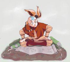 study hard aang by *pyawakit on deviantART. #fanart Avatar the Last Airbender