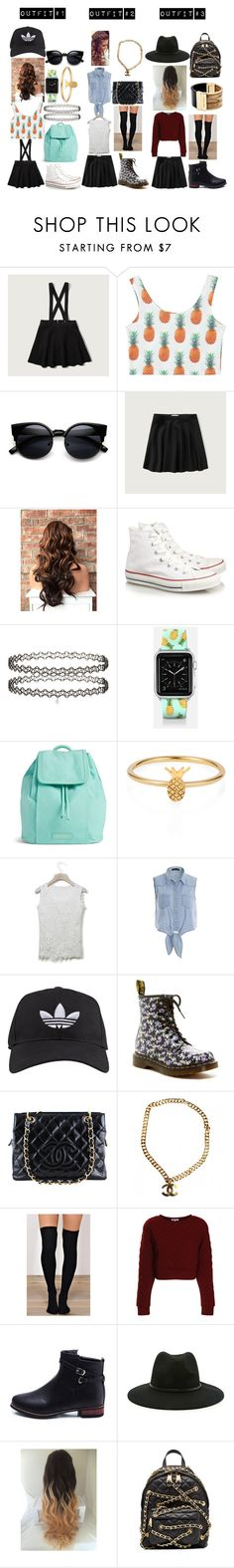 """""""#WhatWouldYouWear?"""" by izzy-ccix on Polyvore featuring Abercrombie & Fitch, Converse, Miss Selfridge, Casetify, Vera Bradley, Lee Renee, Chicwish, adidas, Dr. Martens and Chanel"""
