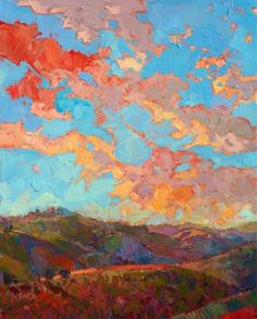 "Saatchi Art Artist Erin Hanson; Painting, ""Clouds over Paso"" #art"