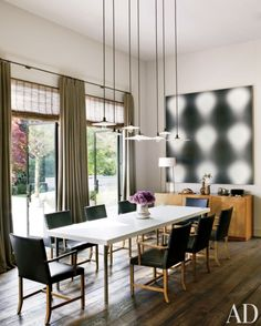 Contemporary Lighting For Dining Room Endearing 10 Beautiful Rooms  Madrid Dining Room Table And Flower Chandelier Decorating Design