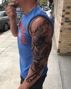 """58.3k Likes, 833 Comments - Josh Bridges (@bridgesj3) on Instagram: """"I am so pumped about this tattoo not only did @helldriver1973 do an amazing job but inside the tips…"""""""