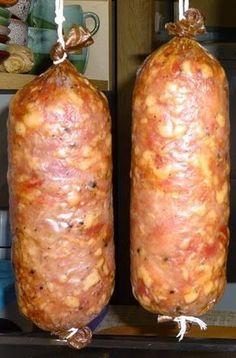 Home Made Sausage, Czech Recipes, Kielbasa, How To Make Sausage, Polish Recipes, Smoking Meat, My Favorite Food, Favorite Recipes, Finger Food