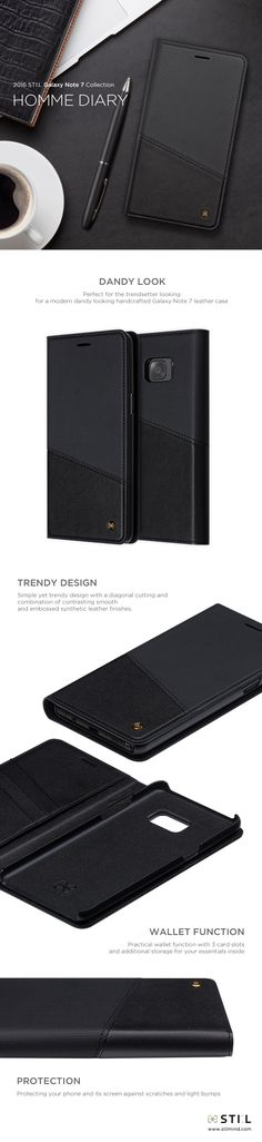 HOMME DIARY, #GalaxyNote7 case inspired by a business man's essential diary in a…