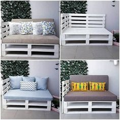 Pallet Storage box And Wall Shelf – Pallet outdoor furniture - Mobilier de Salon Pallet Furniture Plans, Diy Outdoor Furniture, Rustic Furniture, Antique Furniture, Furniture Ideas, Furniture Storage, Modern Furniture, Pallet Chair, Palette Garden Furniture