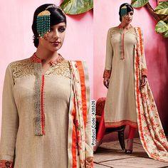 Bring the floral charm in your daily wear wardrobe!!   #SalwaarKameez #Nude #Beige #Churidaar #Beautiful #Fashionista #WorkWear #Kurti #Designer #LongSuits #Floral #fashion #IndianFashion #IndianWears #Women #ONlineShopping