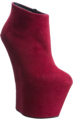 Giuseppe Zanotti Suede High Wedge Ankle Boot