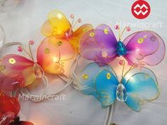 20 Butterfly Bug Multi Colour Fairy Lights String by marwincraft, $15.97