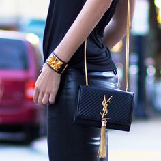 Native Fox: Black + Gold YSL Tassel Purse