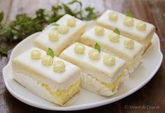 prajitura cu lamaie Baking Recipes, Cake Recipes, Romanian Desserts, Square Cakes, Just Cakes, Mini Cheesecakes, Dessert Bread, Sweet Tarts, Desert Recipes