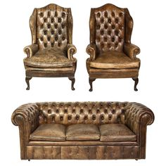 Legs green tufted leather wing chairs excellent arm chairs see more