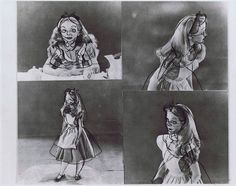 """Ronnie del Carmen on Twitter: """"Kathryn Beaumont photostats with draw-overs by Milt Kahl. Alice in Wonderland (1951) #Animation #Disney… """""""