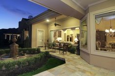 The slate floor covered patio is a great place to enjoy your view!!