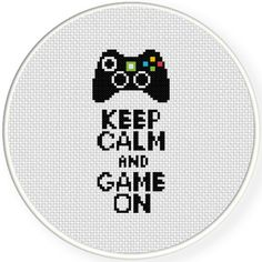 FREE Keep Calm And Game On Cross Stitch Pattern