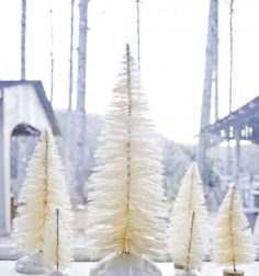 diy bottle brush christmas trees