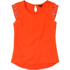 Metropolis. Modelo: G815B0306293KAR. Blusa con aplicación en el hombro, cuello alto redondo.