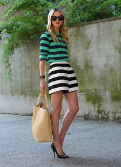 #fashion #women #style #trend #street #clothing #inspiration #lines #stripes #