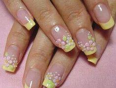 3-D flower nail art.