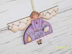 Hand Painted Angel Christmas Ornament by ToletallyPainted on Etsy