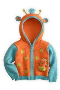 Joobles Organic Baby Cardigan Sweater  Jiffy the Giraffe 612 Months -- Want additional info? Click on the image.