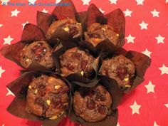 The more than occasional baker: Double chocolate, hazelnut and cherry muffins