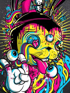 Disturbia Clothing @Blackheart79 this is this kind of stuff Disturbia used to have. Crazy colorful stuff. Amazing artwork. I just looked on their site and not so much anymore.