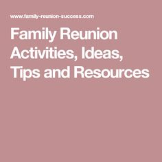 Family Reunion Registration Template