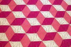 3d illusion afghan block pattern | Ilusión - Manta de triángulos | Flickr - Photo Sharing!