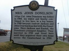 Mrs. John Donelson - Nashville, TN - Tennessee Historical Markers on ...