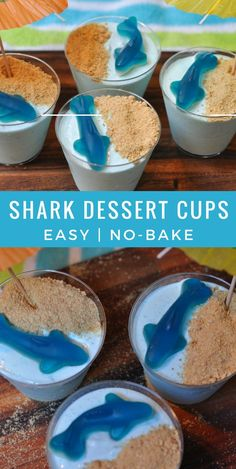 Easy Kid Snacks- Shark Cups | A fun way to celebrate shark week or an under the sea birthday party.