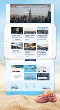 Relaunch des Reiseblogs von TUI mit optimierter Suchmaschinen- und Navigationsfunktion. Website Designs, Blog, Traveling, Design Websites, Website Layout, Web Design, Design Web