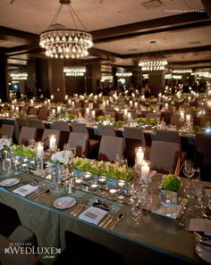 mirror under centerpiece as table runners