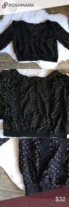 0584f79af82f3 Free People Boho Black and White Button Crop Top Free people adorable boho  touch. Black