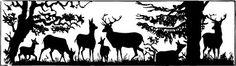 vintage deer silhouette