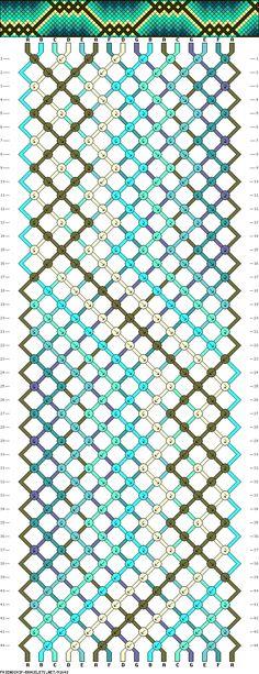 Muster # 91648, Streicher: 16 Zeilen: 44 Farben: 7